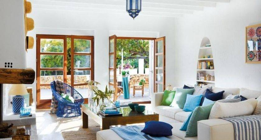 Bloombety Colorful Blue Living Room Ideas