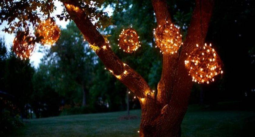 Bloombety Lighted Grapevine Balls Outdoor