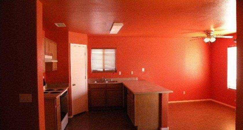 Bloombety Orange Red Paint Dining Kitchen Room