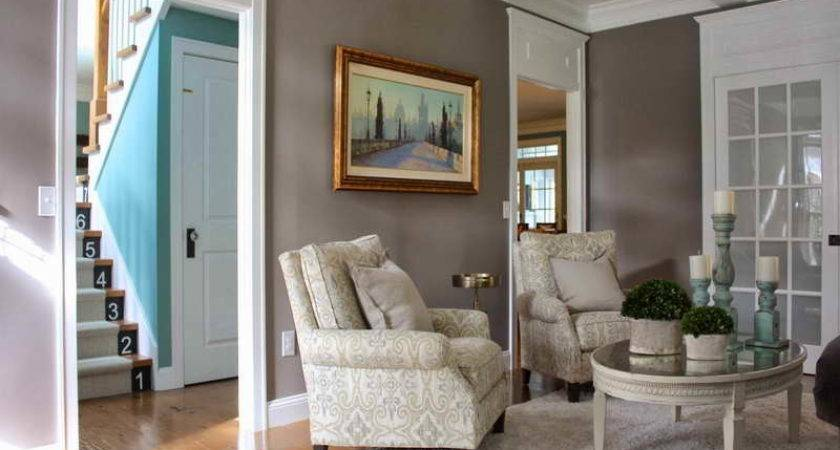 Bloombety Painting Living Room Two Colors