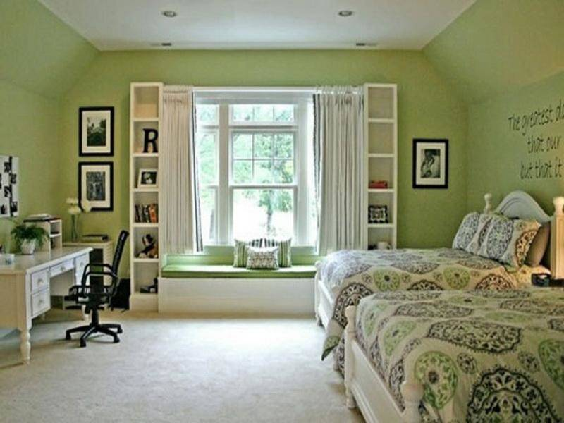 Bloombety Relaxing Bedroom Green Paint Color Schemes ...