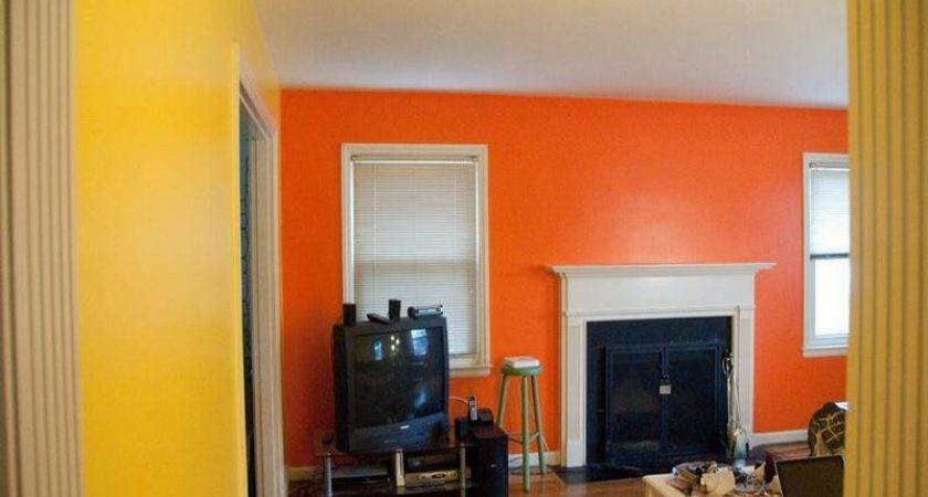 Bloombety Yellow Orange Wall Paint Colors Ideas
