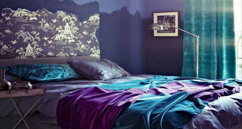 Blue Bedroom Designs Ideas Purple Teal Orange