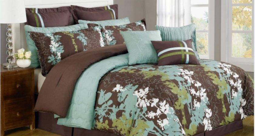 Blue Brown Bedding Sets Ease Style