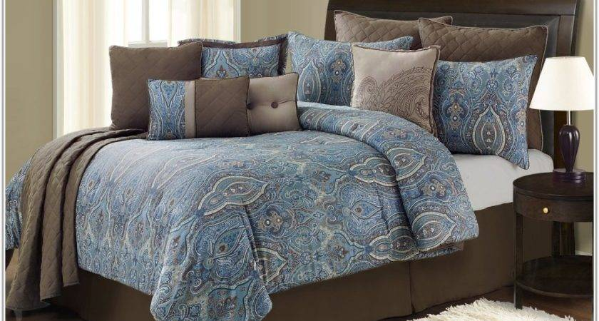 Blue Brown Bedding Sets Uncategorized Interior