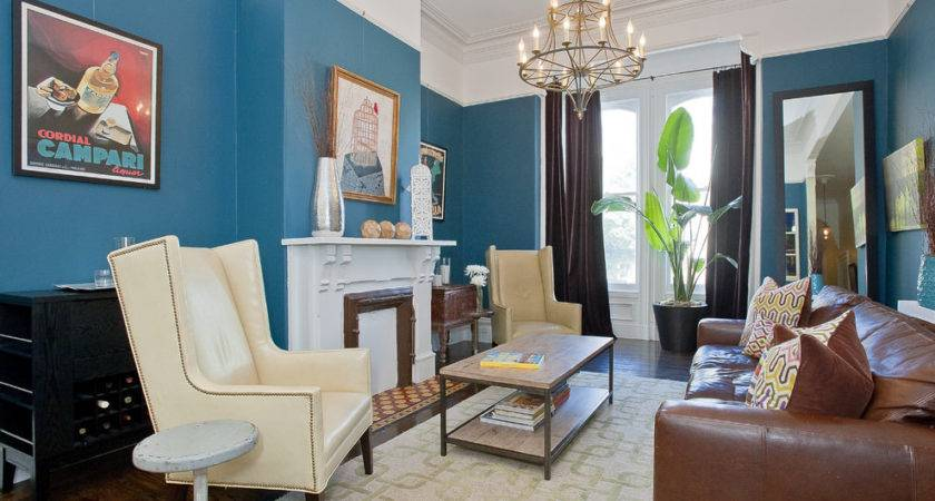 Blue Brown Living Room Designs Decorating Ideas