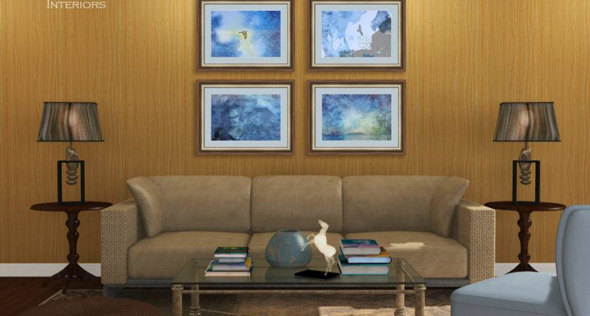 Blue Brown Nature Themed Living Room Beverly Claire