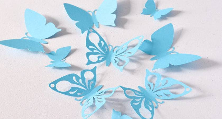 Blue Butterfly Wall Decoration Birthday Party