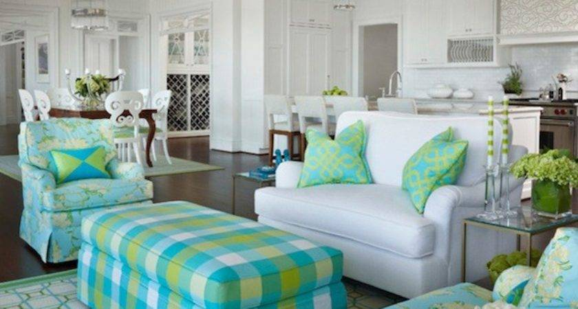 Blue Green Living Rooms Design Ideas