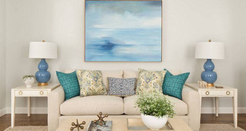 Blue Living Room Accents Modern House