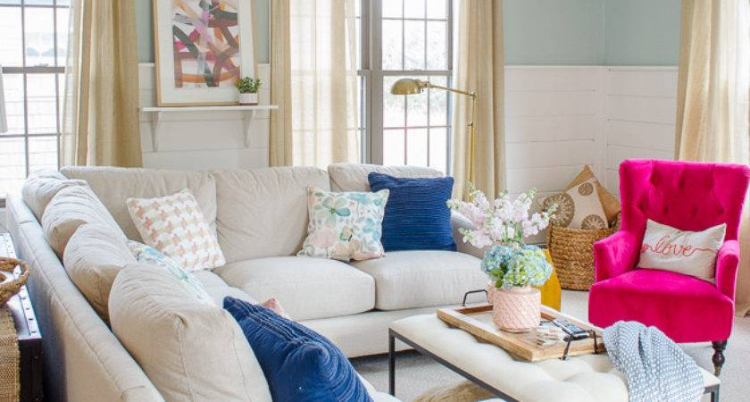 Blue Pink Living Room Decorating Ideas Four