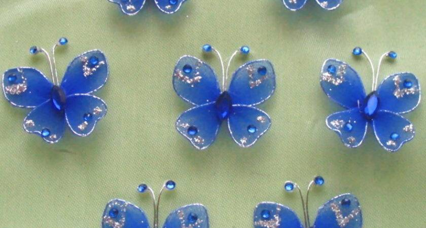 Blue Stocking Butterfly Wedding Decorations Ebay