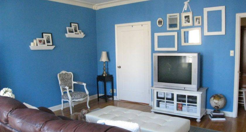 Blue Wall Paint Colors Small Living Room Decorating