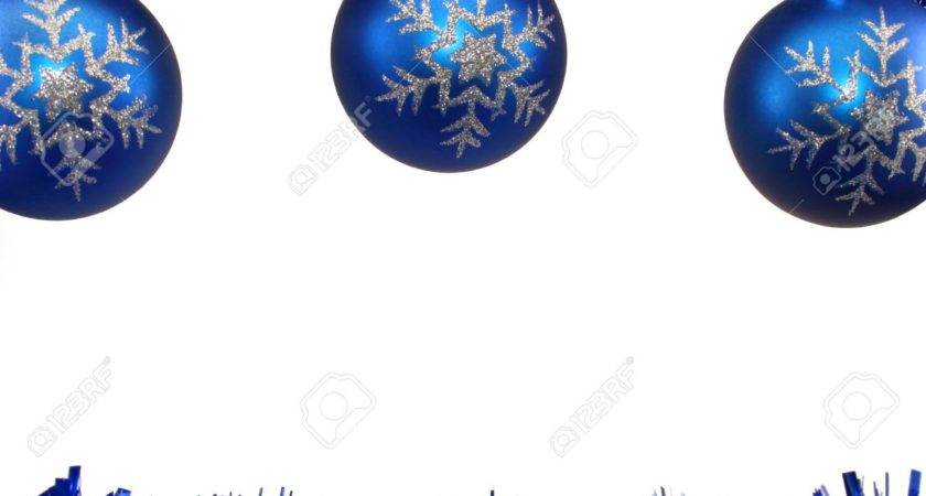 Blue White Christmas Decorations Lights
