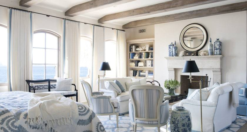 Blue White Grey Living Room Old World French Decor