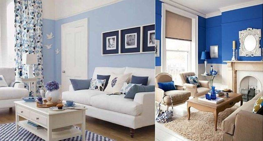 Blue White Living Room