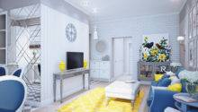 Blue Yellow Home Decor