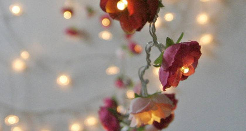 Bohemian Garden Mixed Rose Fairy Lights Pamelaangus
