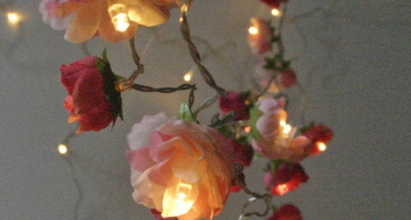 Bohemian Garden Mixed Rose Fairy Lights Pretty Flower