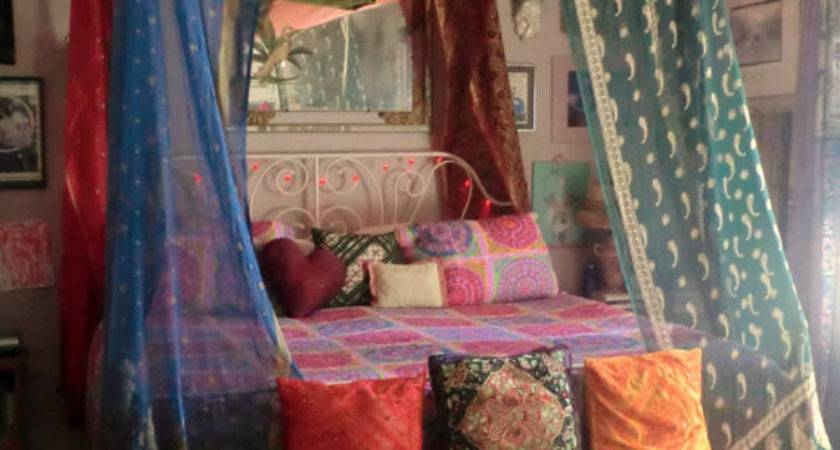 Bohemian Gypsy Bed Canopy Babylonsisters Etsy