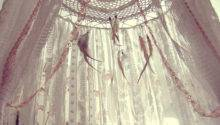 Boho Bed Crown Baby Crib Canopy Gypsy Nursery Decor