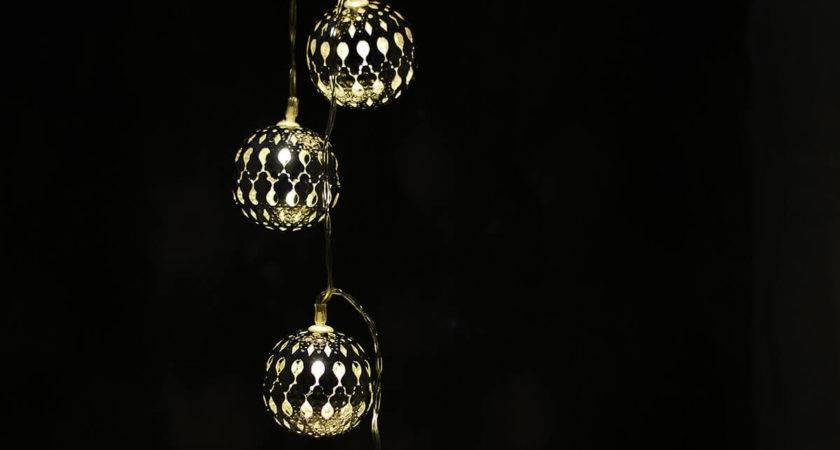 Boho Silver Sphere Led Light String