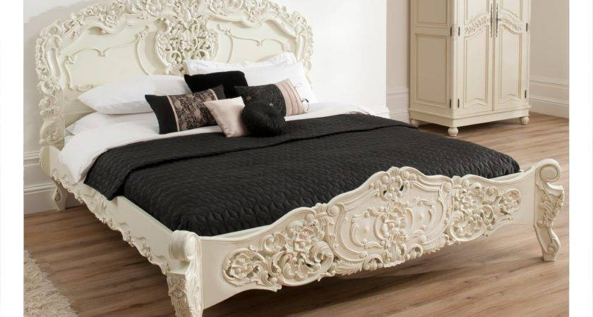 Bordeaux Ivory Shabby Chic Style Bed Furniture