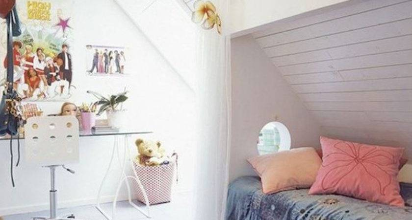 Bright Attic Room Children Home Design Interior