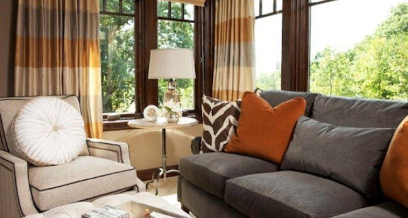 Bright Colored Rooms Gray Rust Living Room Party