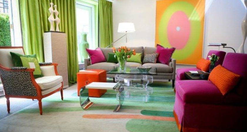 Bright Colorful Living Room Design Ideas Modern Home