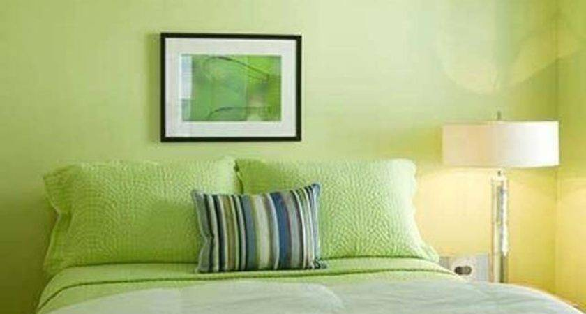 Bright Small Master Bedroom Decoration Lime Green