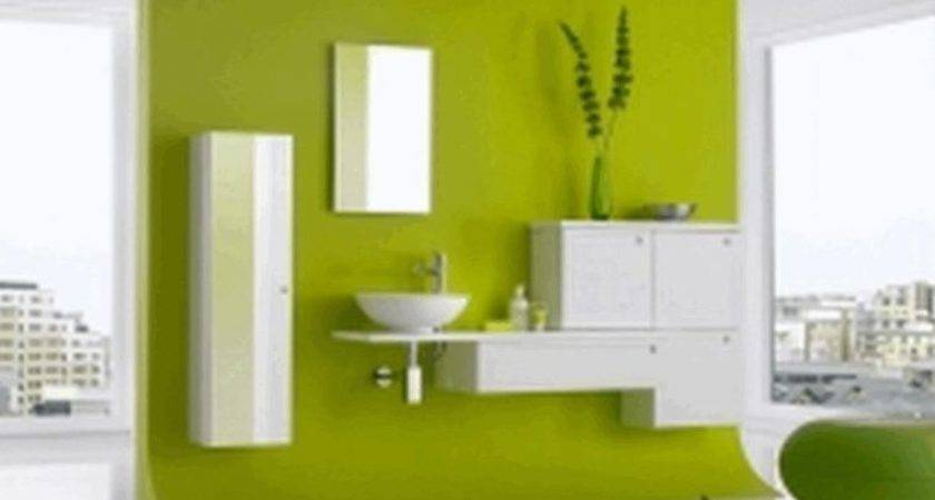 Bright Yellow Wall Paint White Ceramic Floor Tile
