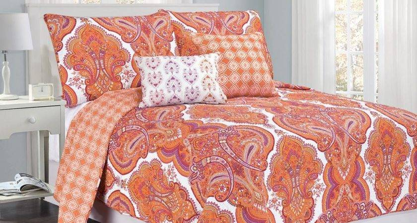 Brilliance Paisley Queen Orange Coral Pillow