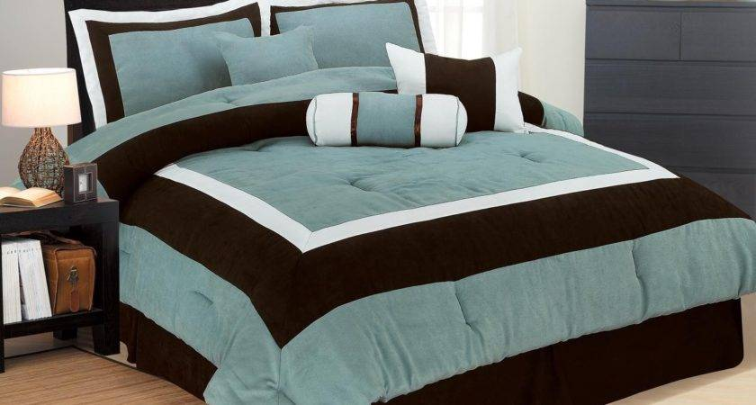 Brown Aqua Bedding Turquoise Bed