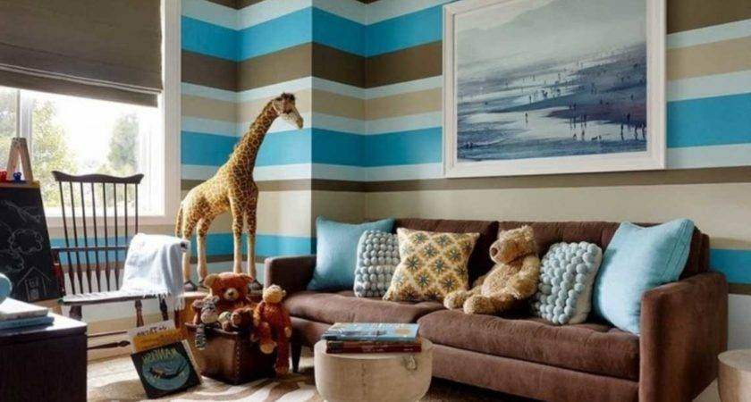 Brown Blue Living Room Ideas