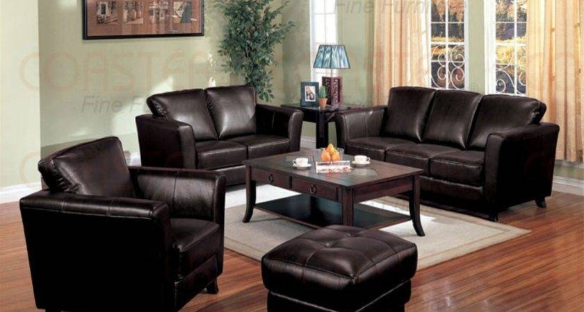 Brown Leather Living Room Sets Peenmedia