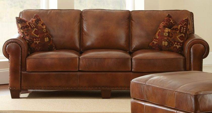 Brown Leather Sofa Bed Couch Light