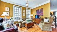 Brown Mustard Yellow Living Room Interior Decorating