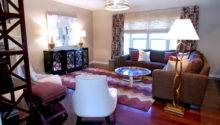 Brown Purple Living Room Contemporary