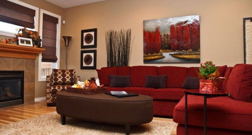 Brown Red Living Room Decorating Ideas