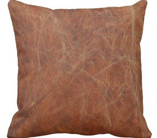 Brown Tanned Leather Print Throw Pillows Zazzle