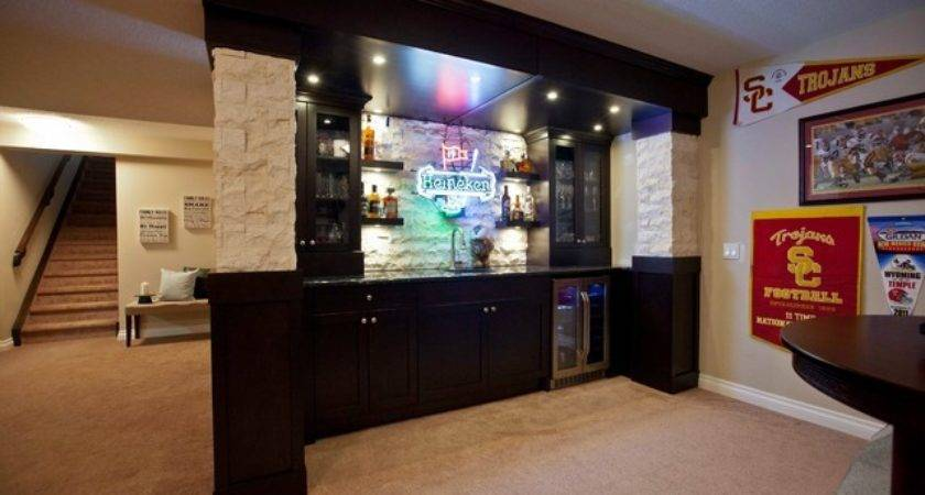 Build Basement Bar Using Kitchen Cabinets Home