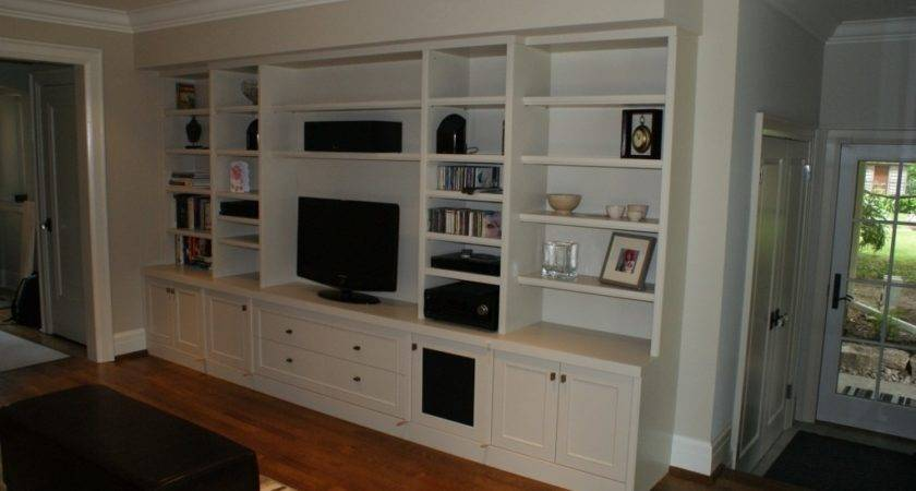 Built Audio Video Wall Unit Wiggers Custom