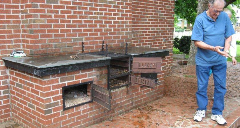 Built Barbecue Grill Outdoor Kitchen Building Design
