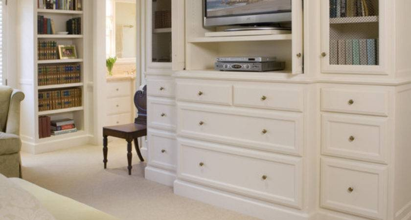 Built Ins Facing Bed Cabinet Hiding Love