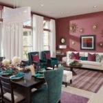 Burgundy Blue Home Design Ideas Remodel