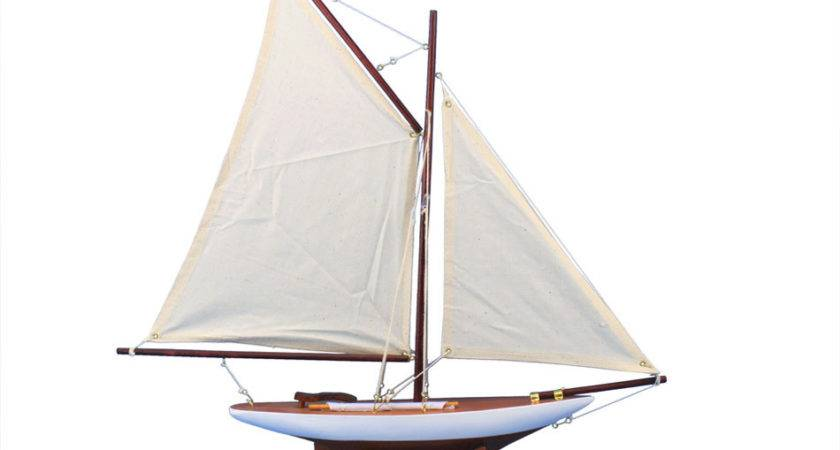 Buy Wooden America Cup Contender Model Sailboat