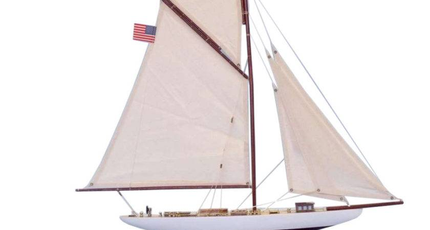 Buy Wooden Columbia Limited Model Sailboat Inch
