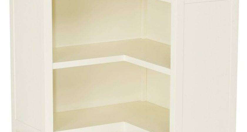 Cameron Corner Bookcase Simply White Transitional