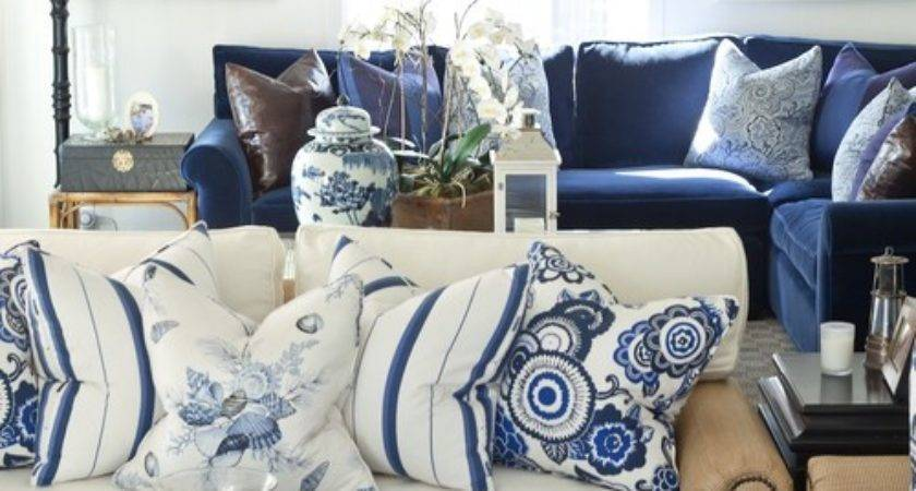Can Find Blue White Striped Pillows